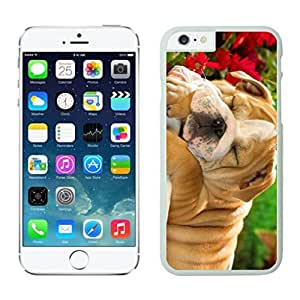 Personalize offerings Sleeping Christmas Dog White Phone Case For Iphone 6 4.7 Inch