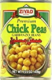 Ziyad Beans Chick Peas (Hummous Haab), 15.5000-ounces (Pack of6)
