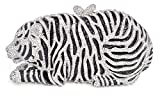 mossmon Luxury Crystal Clutches For Women Tiger Evening Bag (Silver)