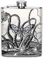 Petaca de acero inoxidable portátil de moda de barco marino de calamar gigante