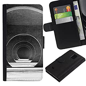 KingStore / Leather Etui en cuir / Samsung Galaxy S5 Mini, SM-G800 / Salón de Arquitectura Futurista;