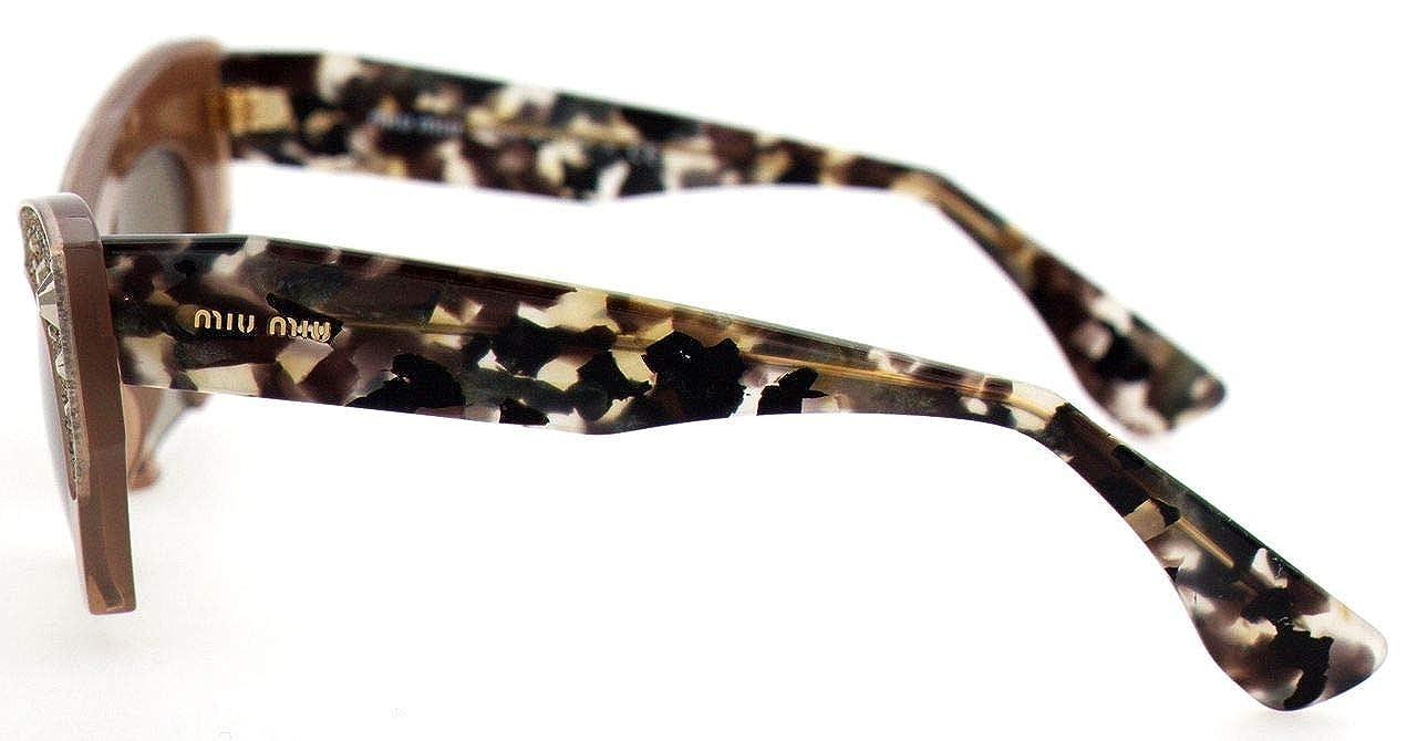 Miu Miu MU02QS TV01X1 Sunglasses Brown Cat-Eye 50mm at ...