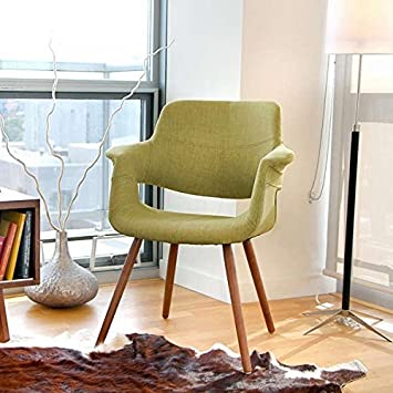 Vintage Flair Mid Century Modern Accent Chair   Green