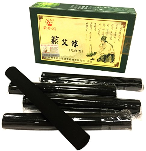 Erencook 10 Pcs Original Pure High Penetration Smokeless Moxibustion Sticks Moxa Stick Artemsia Argyi Five Chen Purity
