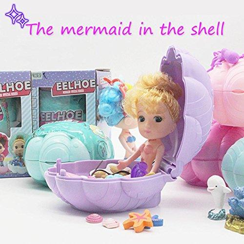 Coerni Mermaid Shell Dolls Toy for Girls, Surprise Doll Gift for Kids Girls