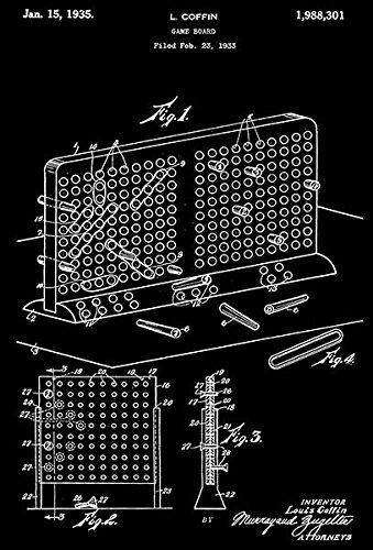amazon com 1935 battleship game board l coffin patent art