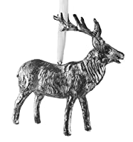 Silver Resin Reindeer Figurine