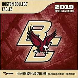 Boston College 2019 Calendar Boston College Eagles 2019 Calendar: Lang Holdings Inc