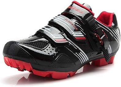 Tiebao - Zapatillas de ciclismo de Sintético para mujer, color Negro ...