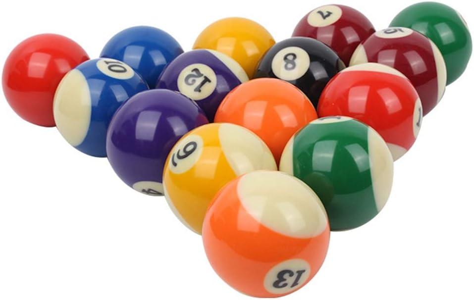 LSB-TAIQIU - Juego de bolas de billar de resina, para jugar en el club, resina, pequeñas, piscinas: Amazon.es: Hogar