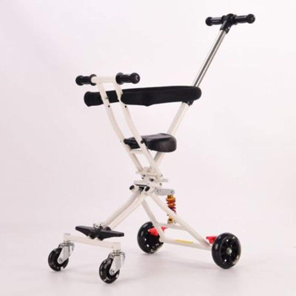 Amazon.com: Carrito de bebé con cuatro ruedas, plegable ...
