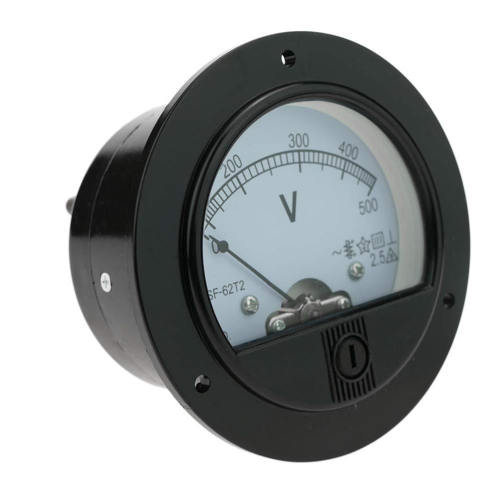 Contatore elettrico analogico pannello 70mm rotonda 500V voltmetro Cablematic