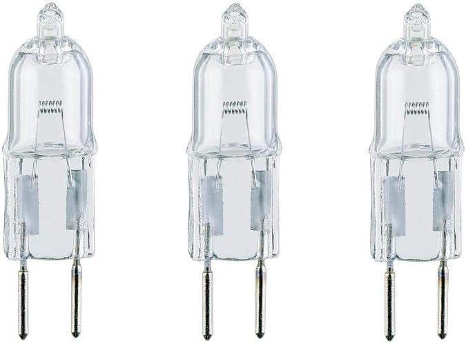 Bombilla halógena universal para campana de cocina, 20 W, G4, 2 pines, paquete de 3 bombillas, calificación energética B: Amazon.es: Iluminación
