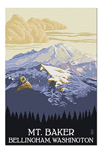 Mt. Baker, Washington (20x30 Premium 1000 Piece Jigsaw Puzzle, Made in USA!) ()