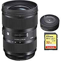 Sigma 24-35mm F2 DG HSM Standard-Zoom Lens for Canon EF Cameras (588954) with Sigma USB Dock for Canon Lens & Lexar 32GB Professional 1000x SDHC Class 10 UHS-II Memory Card