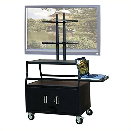 VTI Wide Body Cabinet Cart for up to 55'' Flat Panel TV w/Pull Out Shelf