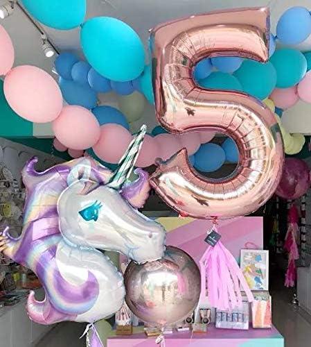Unicorn foil balloons birthday party supplies decoration for kids helium balloon