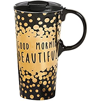 Amazon Lady Jane 13oz Spill Proof Ceramic Coffee Travel Mug