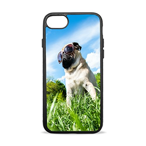Dragon Sword iPhone 8 Case, Pug Dog Mops Flexible Soft TPU Anti-Scratch Shockproof Slim Fit Case Cover for Apple iPhone 8 4.7 inch
