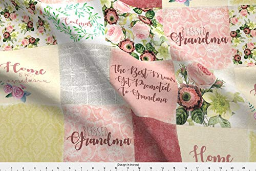 Spoonflower Grandma Fabric - Grandma Mothers Day Grandmothers Love Nana Yaya Holiday - by Mnutt1 Printed on Minky Fabric by The ()