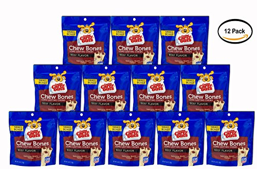 PACK OF 12 – Canine Carry Outs Dog Snacks Small Bones Chew Bones Beef Flavor, 2.8 OZ Review