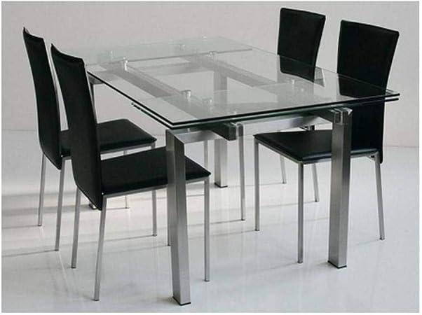 Hamalski Dank Uporit Tavoli In Cristallo E Acciaio Amazon Meta4logistics Com