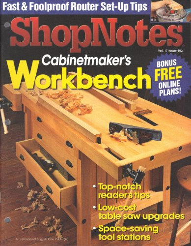 Shop Notes (Cabinetmaker's Workbench, Nov/Dec 2008, Vol. 17, Issue ()
