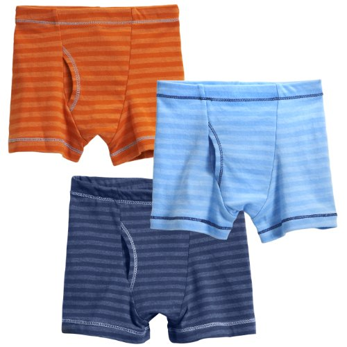 - City Threads Boys' Boxer Briefs 100% Super Soft Cotton for Sensitive Skin Sensory Friendly SPD School Play Sports Active, 3-Packs, Brights, 12