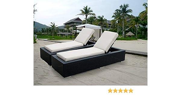 Amazon Com Ohana 2 Piece Outdoor Patio Furniture Chaise Lounge Set
