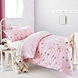 Textile Warehouse Constellation Star Gold Rose Pink Girls Kids Childrens Duvet Quilt Cover Bedding Set Double
