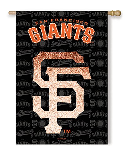 (MLB San Francisco Giants Suede Glitter House Flag 29