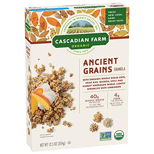 (Cascadian Farm Organic Granola, Ancient Grains Cereal, 12.5 oz (Pack of 6))