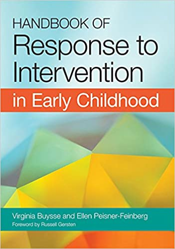 Amazon com: Handbook of Response to Intervention in Early