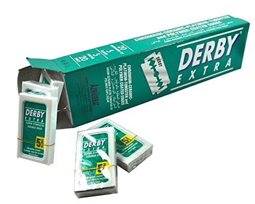 50 Derby Extra Double Edge Razor Blades Stainless Steel