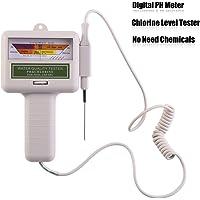 Diyeeni Probador de pH Portátil,Medidor de Cloro, Monitor