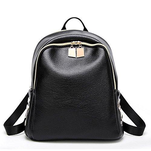 Aoligei Sac de fille rivet de sac bandoulière Double sac à dos de voyage étudiant