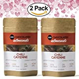 #10: 70% Cacao Dark Chocolate Covered California Almonds - Gluten and Dairy Free, Vegan, Fair Trade, Single Origin Columbian Cacao from Eos Chocolates (Chili and Cayenne, 2 Pack)