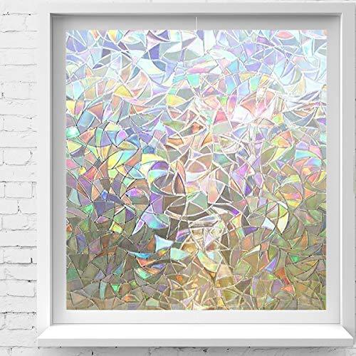 Mwah Window Film Privacy Frosted Non Adhesive Glass Film Self Static Cling Anti UV Window Sticker Decorative Glass Film…