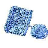 Blue Arm Knit Chunky Knit Playmat Rug Blanket,50''x60'' Mat Kid's Room Play Carpet Nursery Decor,Cotton Tube Yarn Knitted Blanket,Photo Prop