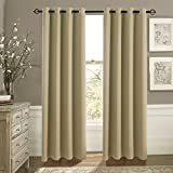 Best Home Fashion Thermal Insulated Blackout Curtains 84s - Aquazolax Plain Grommet Thermal Insulated Blackout Curtain Draperies Review