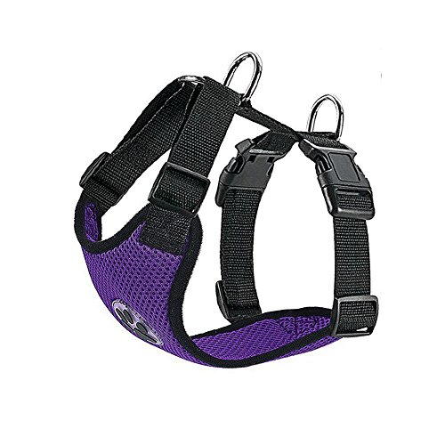 Slowton Dog Harness, Pet Vest Harness for Dogs Safety in Car Adjustable Neck and Chest Strap, Breathable Soft Fabric Multifunctional Vest with Quick Release Buckle for Travel Outdoor Walking Daily Use