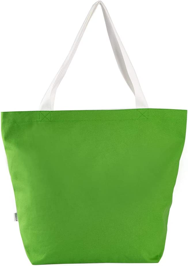 Augbunny Durable 100/% Cotton 12oz Canvas Heavy Duty Extra Large Grocery Bag Beach Tote Shopping Bag Multi Purpose Tote.