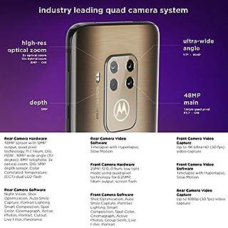 "Motorola One Zoom 128GB, 4GB RAM XT2010-1, 48MP Sensor Quad Pixel, 6.4"" Full HD+ LTE Factory Unlocked Smartphone - International Version (Grey Techno)"