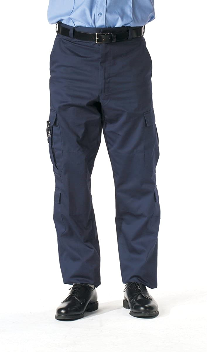 Amazon.com  Navy EMT Pants W  Stain Resistant Fabric Protector  Longs   Military Pants  Clothing 84126b0468a
