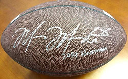 Marcus Mariota Autographed Brown Nike Logo Football Oregon Ducks