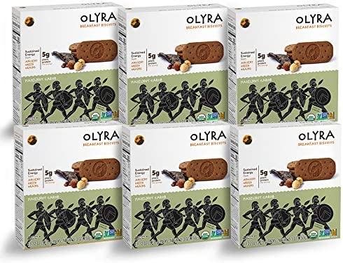 Olyra: Organic Breakfast Biscuits - USDA Organic - Non-GMO - All Natural Ingredients - Made With Ancient Greek Whole Grains - Sustain Energy Levels - Plant ...