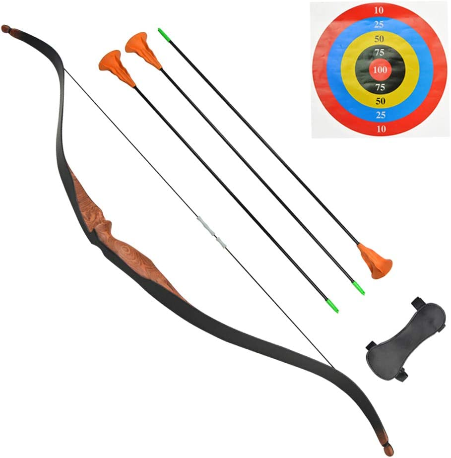 SHARROW Children Recurve Bow and Arrow Set Youth Wooden Bow