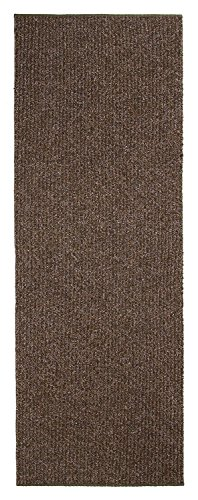 Custom Size Runner Rug Brown Solid Color 36 Inch Wide Select Your Length Non-Slip (Non-Skid) Rubber Backing 13 feet x 36 inch (Color Options Available) by BestHomeCustom