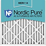Nordic Pure 16x16x2 MERV 14 Pleated AC Furnace Air Filters, 16x16x2, 3