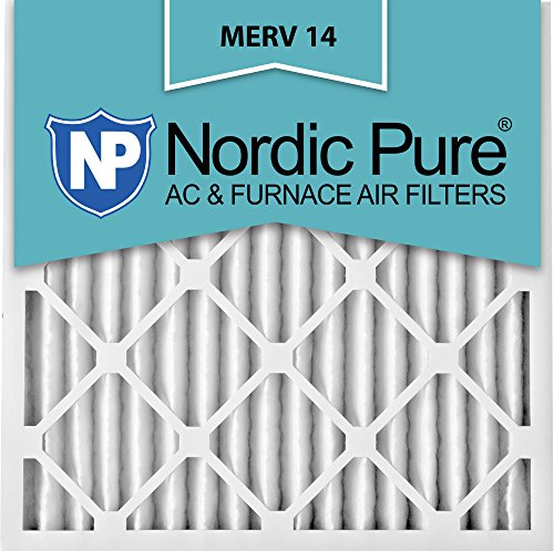 Nordic Pure 16x16x2M14-3 Pleated AC Furnace Air Filter, Box of 3